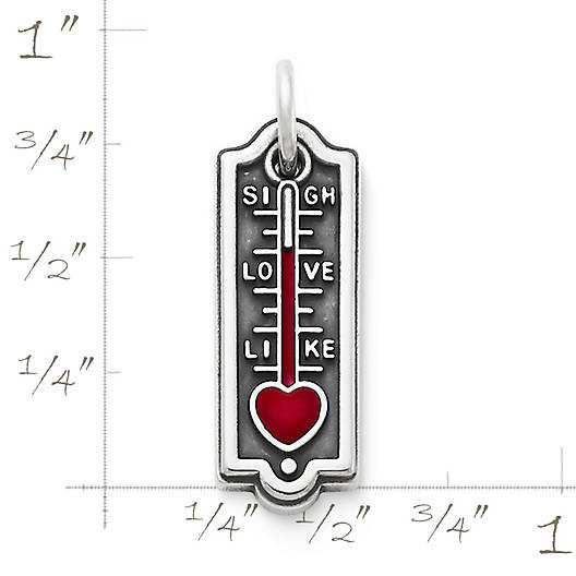 View Larger Image of Enamel Love-O-Meter Charm