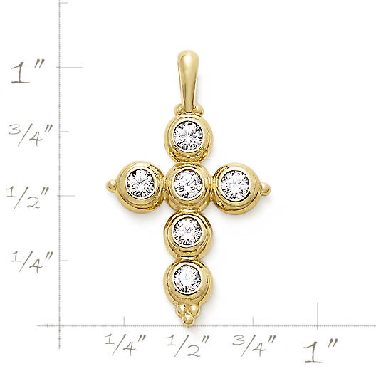 View Larger Image of Antiquity Cross with Diamonds