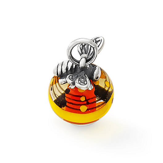 View Larger Image of Honey Bee with Yellow Art Glass Charm