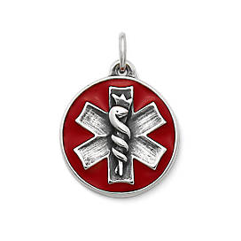 Enamel Medical Alert Charm