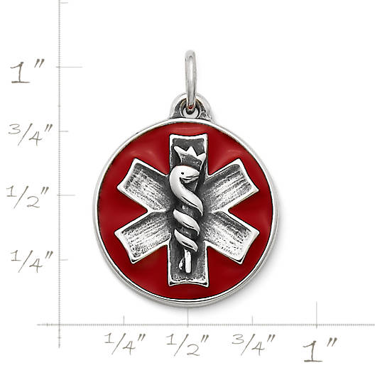 View Larger Image of Enamel Medical Alert Charm