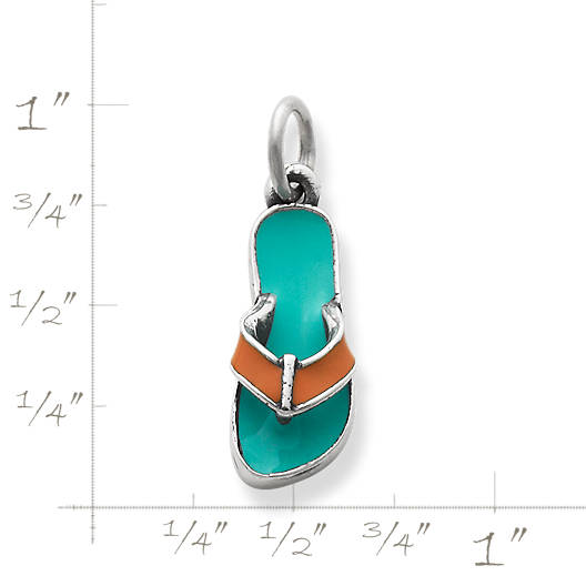 View Larger Image of Enamel Flip-Flop Charm