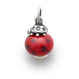 Ladybug Finial with Red & Black Charm
