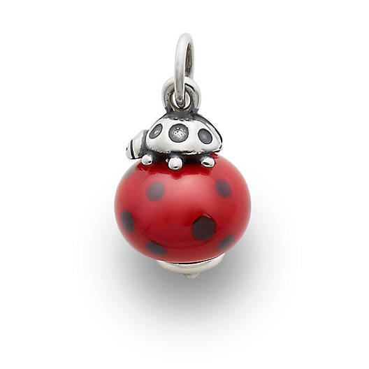 View Larger Image of Ladybug Finial with Red & Black Charm
