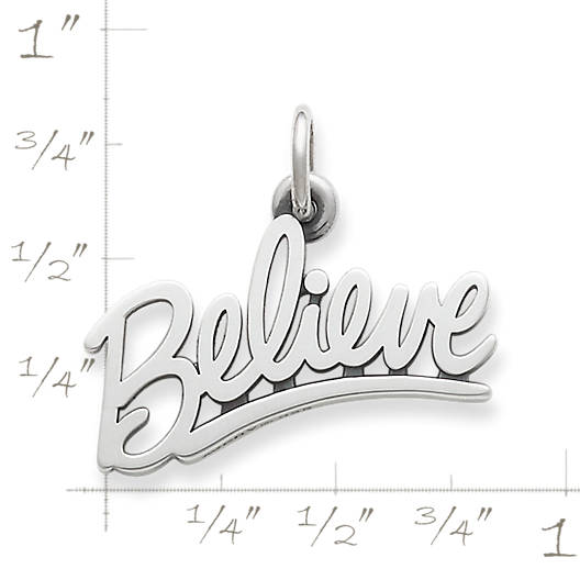 "View Larger Image of ""Believe"" Charm"