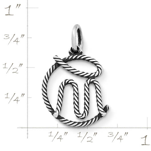 "View Larger Image of ""CM"" Rope Charm"