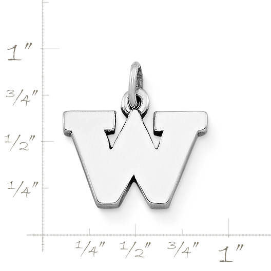 "View Larger Image of ""W"" Charm"