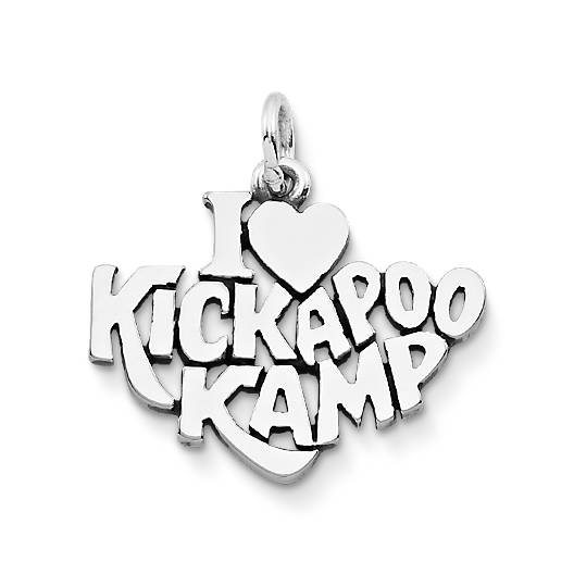 "View Larger Image of ""I Love Kickapoo Kamp"" Charm"