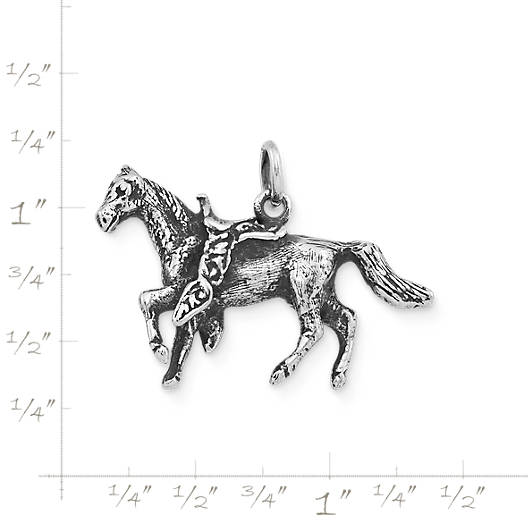 View Larger Image of Saddled Horse Charm
