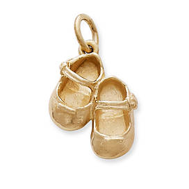 Lil' Girl Baby Shoes Charm