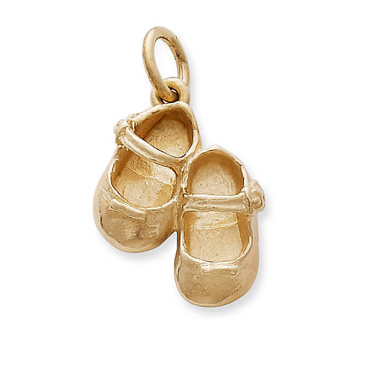 View Larger Image of Lil' Girl Baby Shoes Charm
