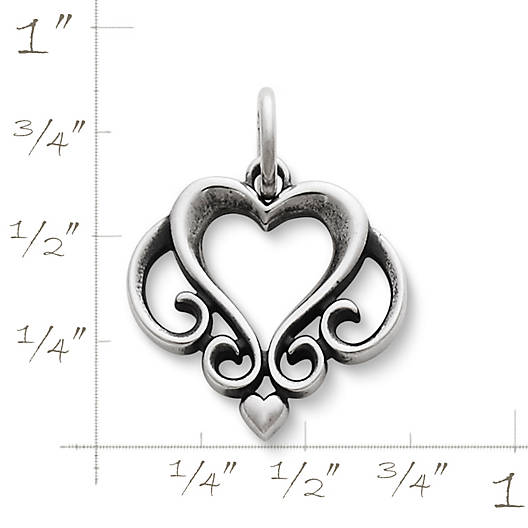 View Larger Image of Ornate Open Heart Charm