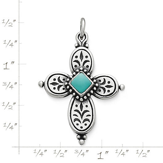 View Larger Image of Festive Beaded Cross with Turquoise