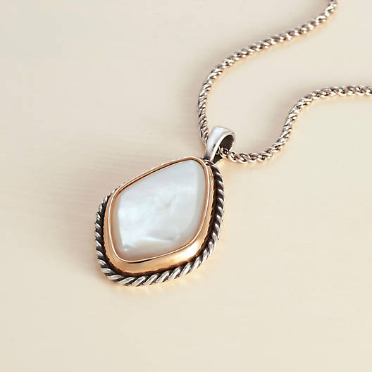 View Larger Image of Alessandra Mother of Pearl Pendant