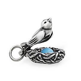 Nesting Bird Charm with Enamel Egg