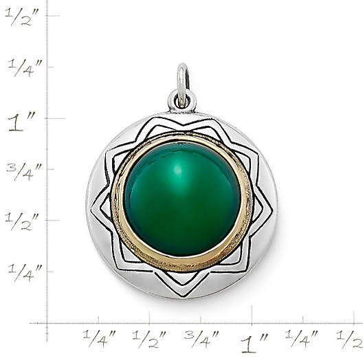 View Larger Image of Heirloom Agate Pendant in Sterling & Bronze