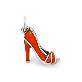 Enamel High Heel Shoe Charm