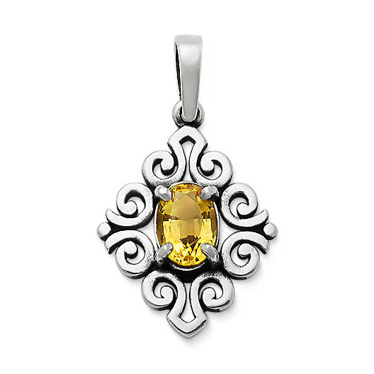 View Larger Image of Scrolled Pendant with Citrine