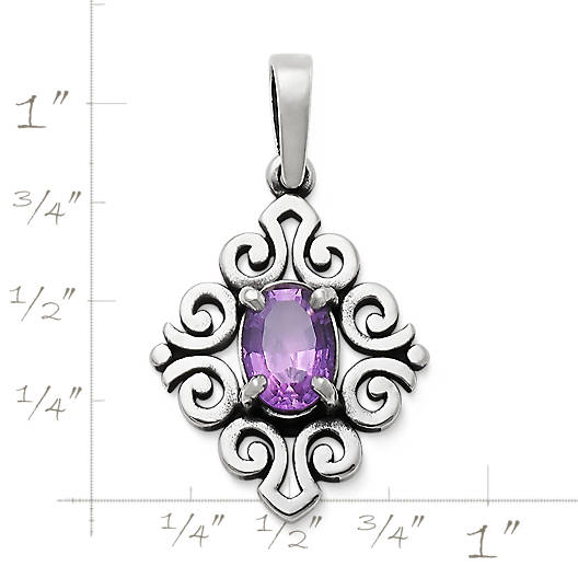 View Larger Image of Scrolled Pendant with Amethyst