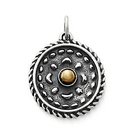 Heirloom Silver & Bronze Charm