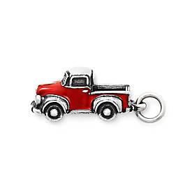 Enamel Vintage Truck Charm
