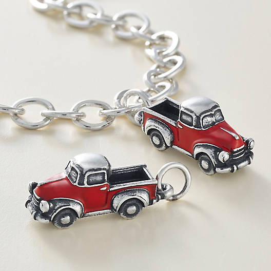 View Larger Image of Enamel Vintage Truck Charm