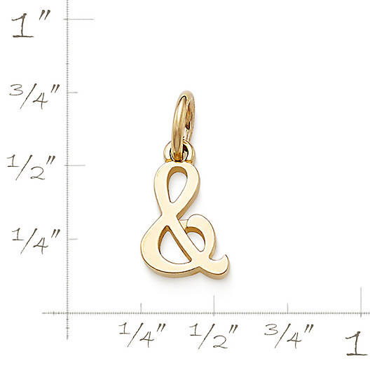 "View Larger Image of Script ""&"" Charm"