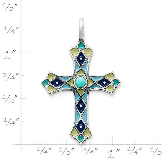 View Larger Image of Enamel Byzantine Cross with Turquoise
