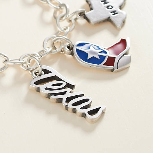 "View Larger Image of Script ""Texas"" Charm"