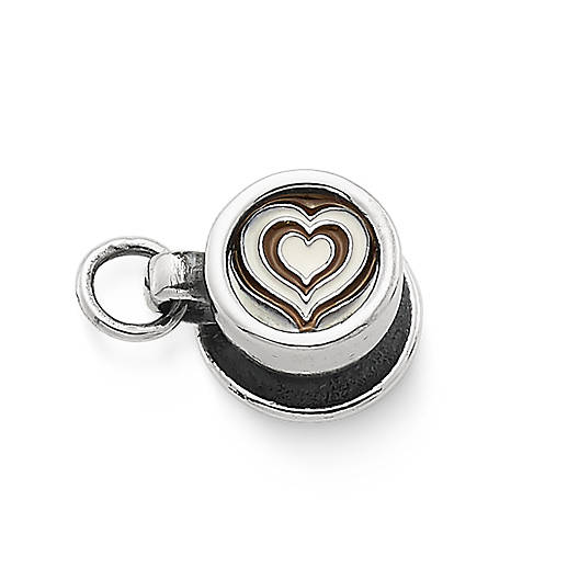 View Larger Image of Enamel Latte Love Charm