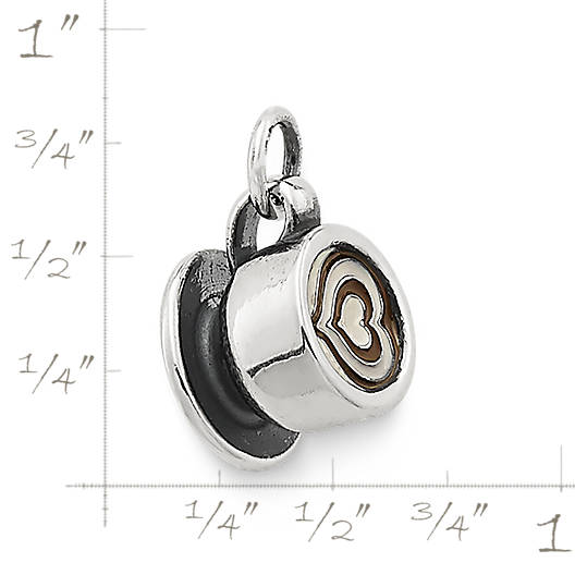 View Larger Image of Enamel Latte Love Charm