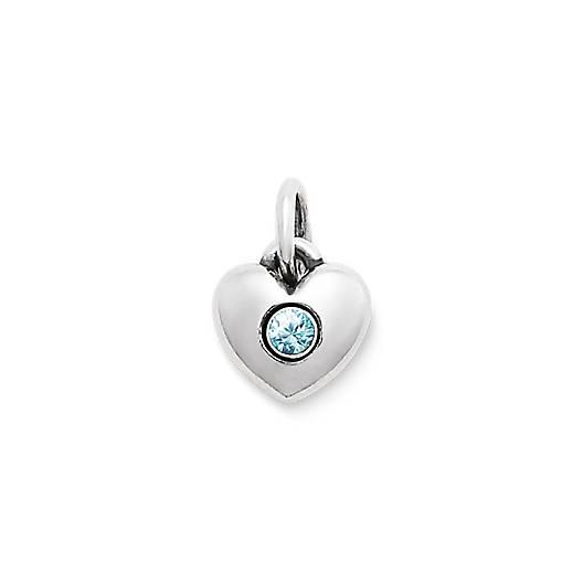 Keepsake Heart Charm with Blue Zircon