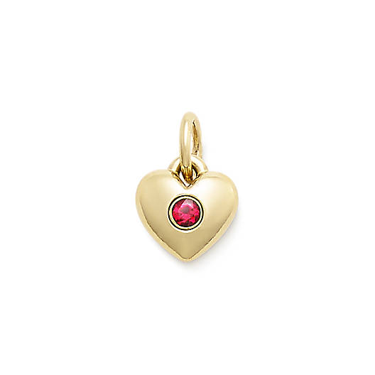 View Larger Image of Keepsake Heart Charm with Lab-Created Ruby