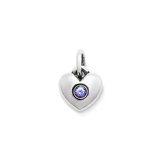 View Larger Image of Keepsake Heart Charm with Lab-Created Alexandrite