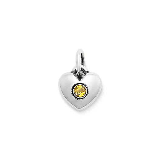 View Larger Image of Keepsake Heart Charm with Citrine