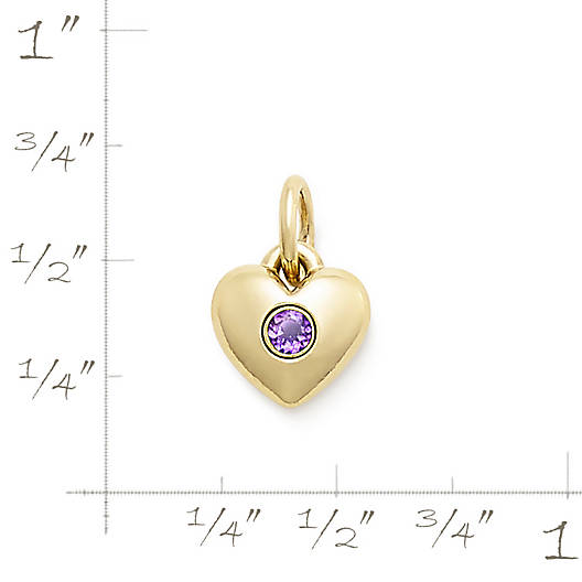 View Larger Image of Keepsake Heart Charm with Amethyst