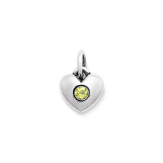 View Larger Image of Keepsake Heart Charm with Peridot