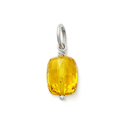 View Larger Image of Faceted Lab-Created Golden Sapphire Gemstone Bead Pendant