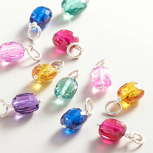 View Larger Image of Faceted Lab-Created Pink Sapphire Gemstone Bead Pendant