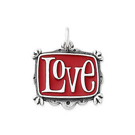 Enamel Vintage Love Charm