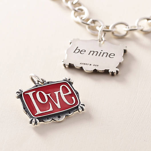 View Larger Image of Enamel Vintage Love Charm