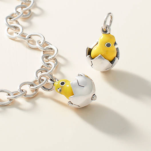 View Larger Image of Enamel Chicks Rule Charm