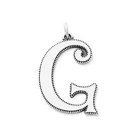 Vintage Alphabet Pendant