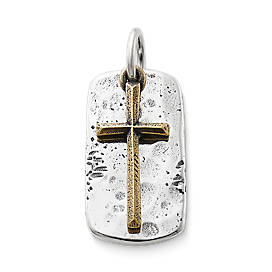 Engravable Tag and Cross Pendant