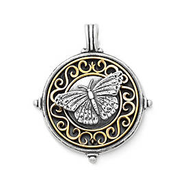 Scrolled Butterfly Pendant