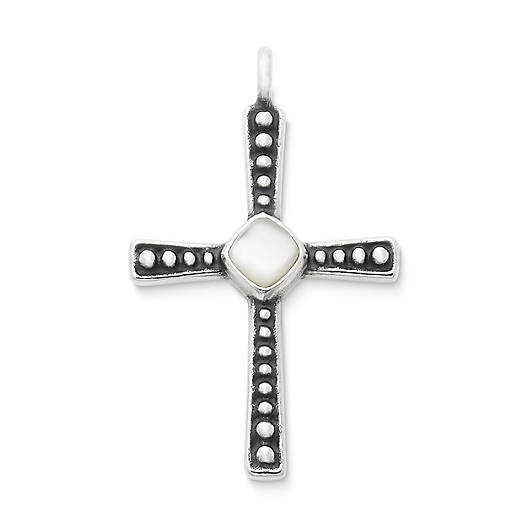View Larger Image of Beaded Mother of Pearl Cross