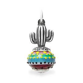 Cactus Art Glass Charm