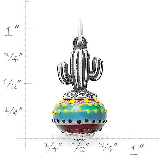 View Larger Image of Cactus Art Glass Charm