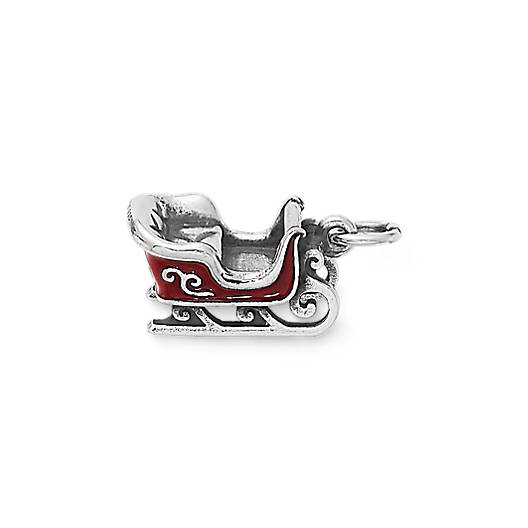 View Larger Image of Enamel Christmas Sleigh Charm