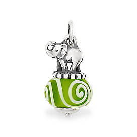 Elephant Art Glass Charm
